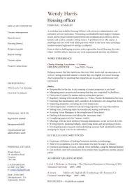layout cv maintenance officer sle resume unique housing officer cv sle