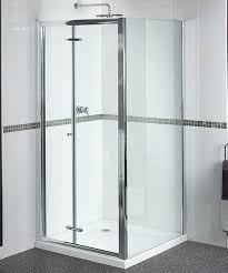 Bifold Shower Door Shine Bi Fold Shower Door 800mm Polished Silver