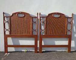 Wicker Headboards Twin by Vintage Wicker Headboard Etsy