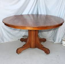 Arts And Crafts Dining Room Furniture by Antique Mission Oak Dining Round Table Gustav Stickley Arts