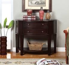 amazon com furniture of america bonitte semi circle console table