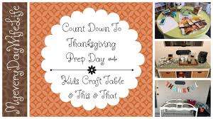 count to thanksgiving prep day 4 craft table this