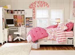 Desk For Bedrooms Modern White Painted Oak Wood Corner Study Desk In Girls Bedroom