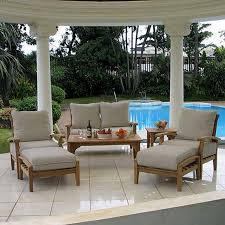 Teak Patio Outdoor Furniture by 7 Piece Teak Wood Outdoor Patio Seating Set