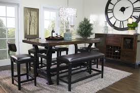 mor furniture for less the iron works counter height dining room iron works counter height dining room media image 1