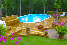 Backyard Above Ground Pool Ideas Best Above Ground Pool Designs Ideas And Pictures 2017