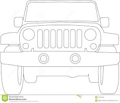 cartoon jeep side view jeep truck outline stock vector image of travel auto 12991056