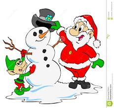 santa and elf clipart clipartxtras