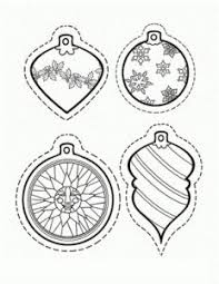 printable ornament shapes free printables coloring