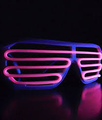 party sunglasses with lights party light up kanye west led glasses double colors purple and