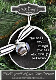 serendipity refined polar express bell quote ornament