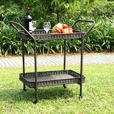 Iron Patio Furniture Clearance Outdoor Patio Serving Carts Outdoor Goods Patio Serving Table