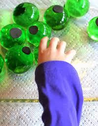 giant water beads halloween eyeball sensory bin