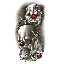 evil skull tattoos designs