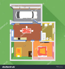 Garage Rooms by House Section Car Garage Bathroom Kitchen Stock Vector 418273924