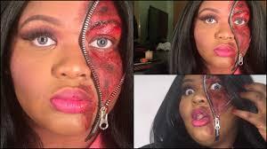zombie cinderella tutorial 2015 half barbie half zombie halloween makeup tutorial youtube