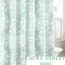 Cassandra Shower Curtain by Laura Ashley Rowland Blue Cotton Shower Curtain By Laura Ashley