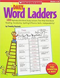 daily word ladders grades 4 u20136 100 reproducible word study