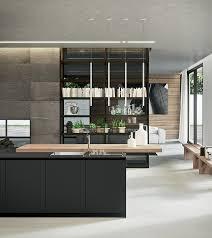 moderne kche mit kochinsel moderne küche kochinsel esstheke holz asymmetrische linien küche