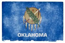 Stock Feather Flags Oklahoma Grunge Flag