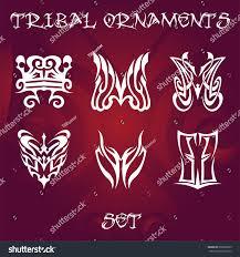 tribal ornaments designs stock vector 669065203