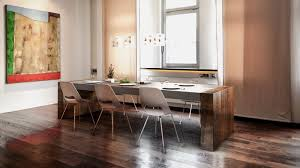 concrete and wood dining table concrete and wood dining table with many hidden storage tavolo di