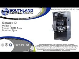square d schneider electric model 6 feeder 400 amp breaker