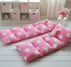 pillow bed light pink with polka dots u2013 august lane
