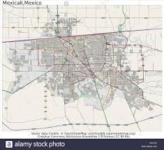 Mexico City Map by Mexicali Mexico Area City Map Aerial View Stock Vector Art