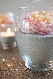 Flower Vases Centerpieces Make These Gorgeous Sand And Flower Centerpieces