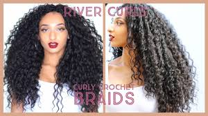human curly hair for crotchet braiding curly crochet braids knotless watch me install wavy hair in 2 5