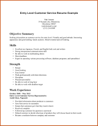 Objective Resume Examples Entry Level Resume Sample For Customer Service Resume Template Customer