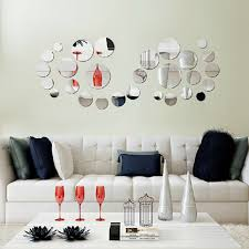 mirror decals home decor 30pcs 3d circle mirror wall stickers acrylic vinyl decal home art
