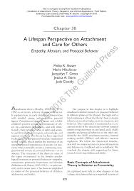 a lifespan perspective on attachment and care for others empathy