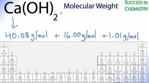 modern periodic table of elements with atomic mass molar mass molecular weight of ca oh 2 calcium hydroxide youtube