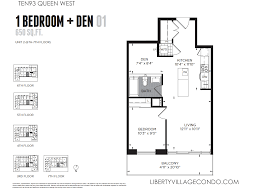how big is 650 sq ft ten93 queen west pre construction condo liberty village condo
