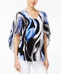 alfani blouses alfani printed envelope sleeve blouse only at macy s