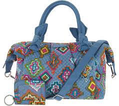 vera bradley home decor vera bradley signature print hadley satchel handbag with rfid id