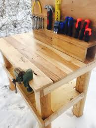 Old Woodworking Benches For Sale by Kids Pallet Workbench 9 Steps With Pictures