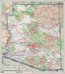 County Map Of Arizona by Road Map Of Arizona Arizona Map