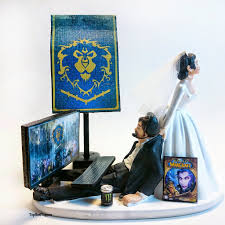 custom wedding cake toppers and groom wedding cake topper and groom custom warcraft alliance