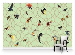 paradise trellis chinoiserie mural wallpaper muralsources com