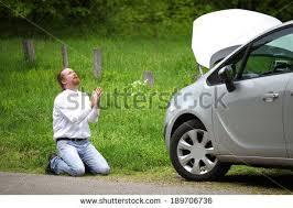Broken Car Meme - funny driver praying a broken car by the road shutterstock com