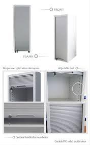 Roller Door Cabinets Height Metal Lockable Files Storage Cabinet With Roller Image