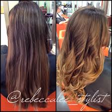 highlights vs ombre style before and after balayage highlights haircut and style by becca