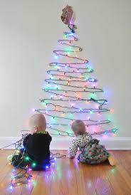 inspiring christmas tree on wall with lights photo ideas tikspor