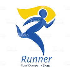 abstract runner symbol company logo template movement express