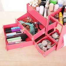 Makeup Organizer Desk by Home Furnishing Women Makeup Organizer Diy Wood Cosmetic