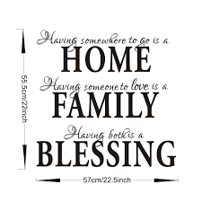 home family blessing english quote saying art decal wall sticker