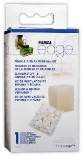 fluval edge tank filter replacement biomax foam carbon set